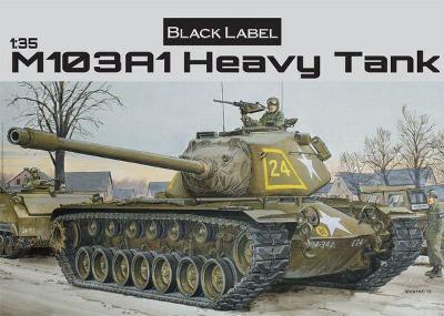 RARE DRAGON 1/35 American M103A1 Heavy Tank BLack lebel