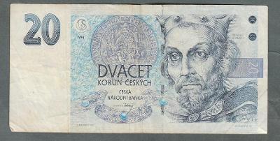 20 kčs 1994 serie A07