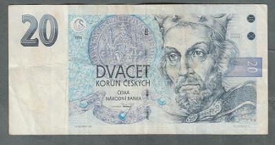 20 kčs 1994 serie B09