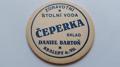 PT05 - Čeperka zdravotní stolní voda Bartoň Kralupy nad Vltavou