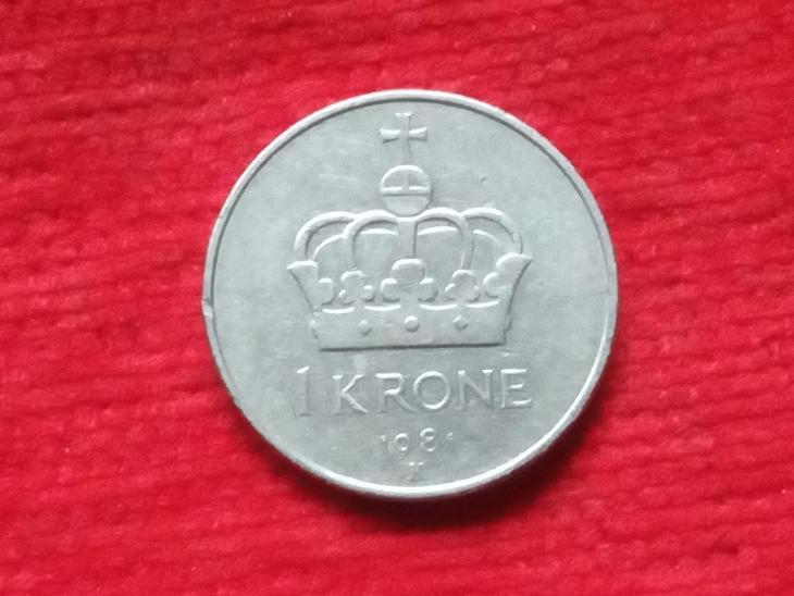 Norsko 1 krone 1981 - Numismatika