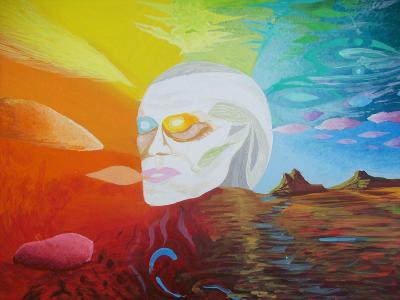 JUST COLOURS, akryl na sololitu, 50 x40 cm