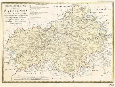 Homann dědicové : Žatecký kraj, mědiryt, 1769