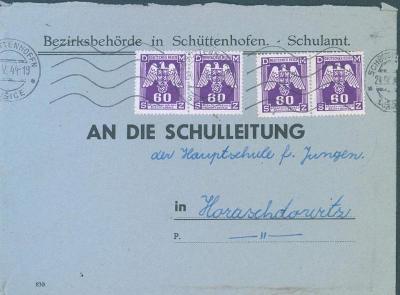 12B189 Služební dopis Sušice - Horažďovice