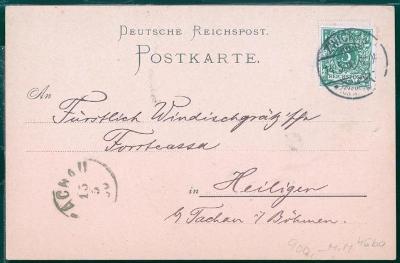 14B709 Zwickau - Tachov, Svatá, na von Windischgrätz banku, vzácné