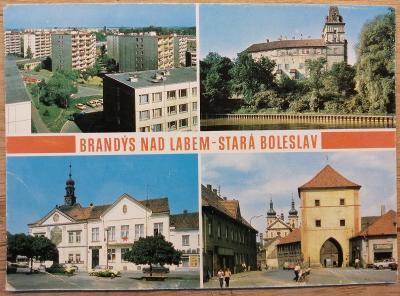 Pohlednice okénková 2000 - Brandýs nad Labem-Stará Boleslav