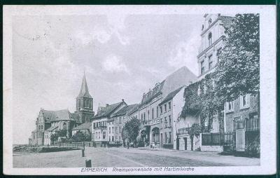 27A1437 Deutschland Emmerich am Rhein, rýnská promenáda, kostel
