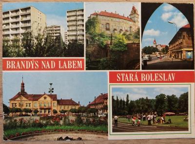 Pohlednice okénková 1990 - Brandýs nad Labem-Stará Boleslav