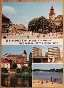 Pohlednice okénková 1976 - Brandýs nad Labem-Stará Boleslav