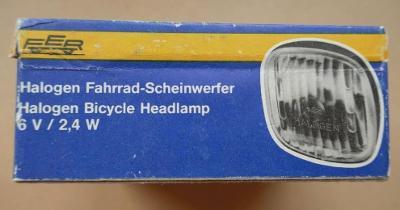 staré světlo HALOGEN FAHRRAD-Scheinerfer !!! + KRABIČKA - DDR ! velo