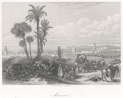 Maroko, oceloryt 1860