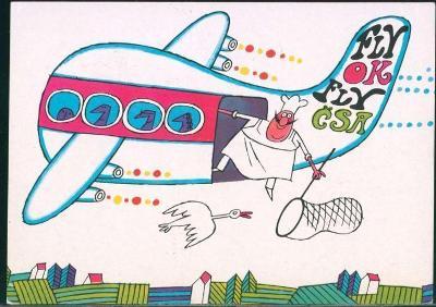 10L287 Letecky- Praha letiště- Leningrad, ADOLF BORN- 1972, 2,4-blok