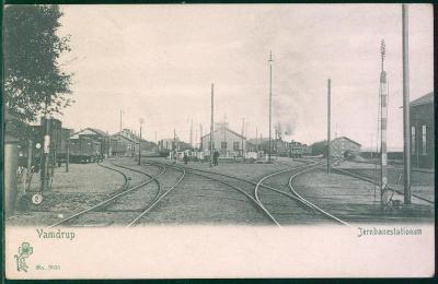 10D2191 Vamdrup, Dánsko, nádraží Jernbanenstaionen