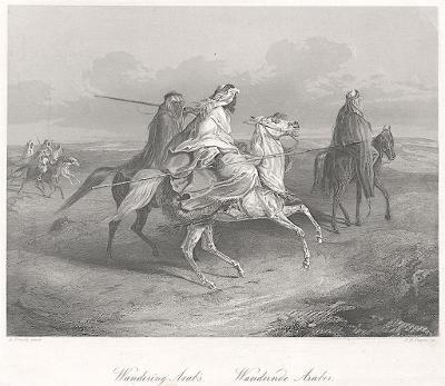 Arabové, Payne, oceloryt 1860