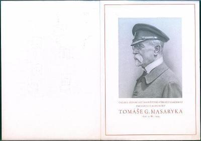 8A10 Masaryk- 85. narozeniny prezidenta A 3 - obrovský oficielní tisk