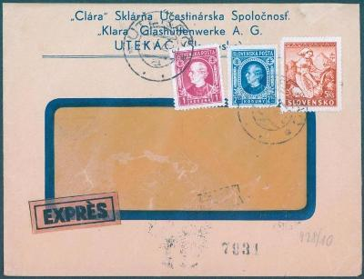 9A2 Slovensko- UTEKÁČ - CLARA( KLÁRA )- Sklárňa- Glasshuttewerke A G