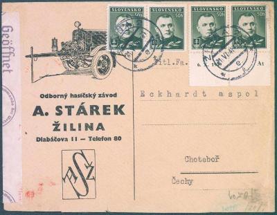 9A46 Slovensko HASIČSKÝ ZÁVOD A.Stárek - ŽILINA/ECKHARD a.s.  CHOTĚBOŘ
