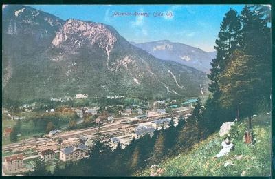 27A1066 Jesenice (německy Aßling), Slovinsko - hory Karavanky, nádraží