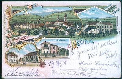 10D1124 Pohlednice Měčín, Žinkovy - Františkovy Lázně