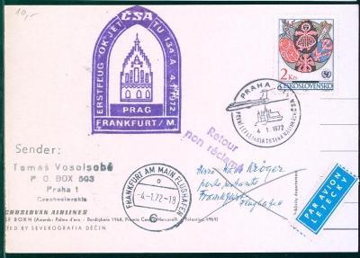 10L155 Letecky- Praha letiště- ADOLF BORN- 1972, Frankfurt- Flughafen