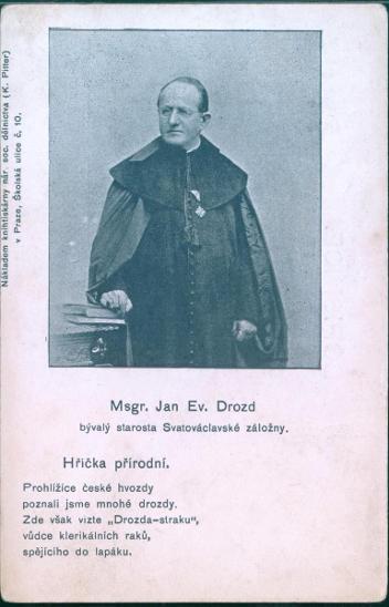 31A76 Msgr. Jan Ev. Drozd, starosta Svatováclavské záložny