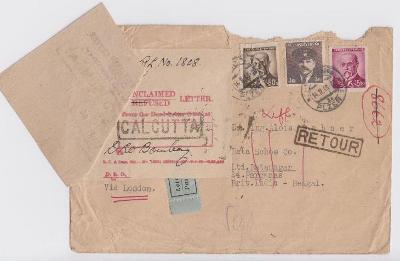 10L627 Letecky - firma BAŤA schoe - Batanagar, Britská Indie- A.DOBNER