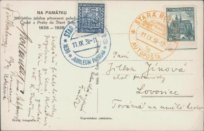 10B2310 Pohlednice Stará Boleslav, autopošta, jubilejní razítko