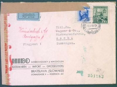 9A50 Slovensko - Telegrafná ú.Stanica Bratislava-HIBO, DOBROVODSKY- AŠ