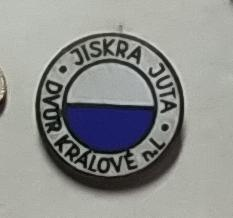 P54 Odznak TJ JISKRA Juta Dvůr Králové nad Labem 1ks