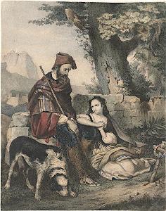 Tyroly jižní kroj, kolor.litografie, (1840)