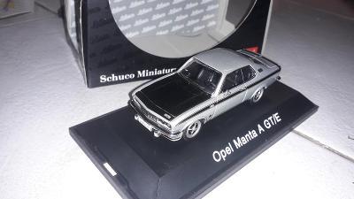 Opel Manta A GT/E stříbrný - Schuco art. 02525 - TOP stav 1:43 nový