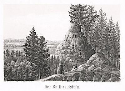 Podhorní vrch - Podhora, litografie, (1850)