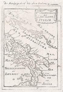 Italie jih, Mallet, mědiryt, 1719