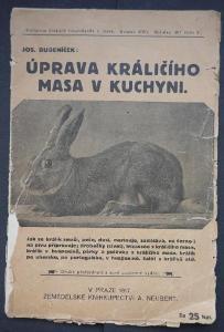 ÚPRAVA KRÁLÍČÍHO MASA, J.Bubeníček - r. 1917 !!! 30 UNIKÁTNÍCH receptů