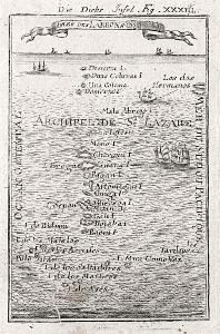 Mariany ostrovy, Mallet, mědiryt, 1719