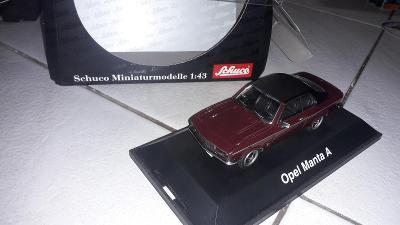 Opel Manta A GT/E vínový - Schuco art. 02527 - TOP stav 1:43 nový