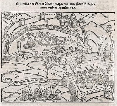 CIVITELLA DEL TRONTO, Münster, dřevořez, 1592