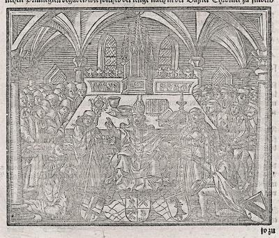 Basel založení university, Münster, dřevořez 1580