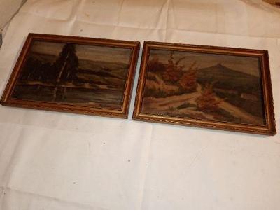 Šimánek regionální malíř olej na plátně 2x