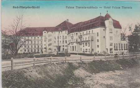 Piešťany, Thermia Palace, barevná, kolorovaná