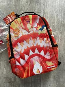 Nový s visackami stylový batoh Sprayground, limitovaná edice PokemonGo