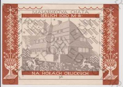Orlické hory - Masarykova chata - Šerlich (razítko