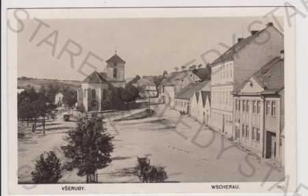 Všeruby (Wscherau), náměstí Domažlice