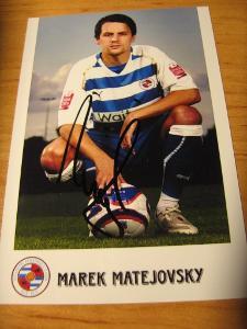 Marek Matějovský - Reading FC - orig. autogram