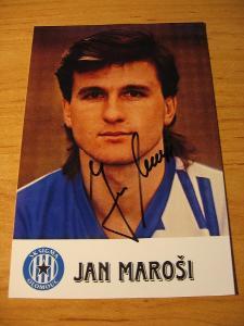 Jan Maroši - Olomouc - orig. autogram
