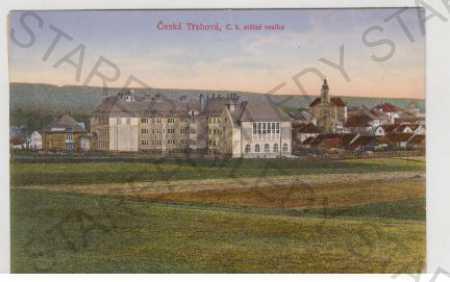 Česká Třebová, Ústí nad Orlicí, škola, kolorovaná
