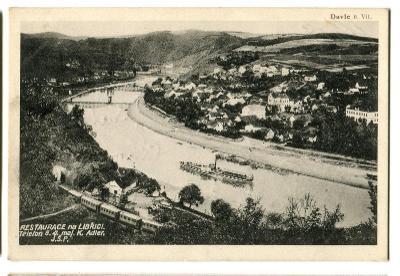 Davle, Vltava, Praha západ, parník, vlak, nádraží