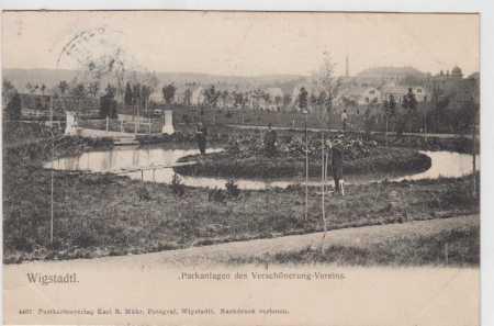 Vítkov (Wigstadtl), park
