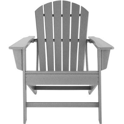 tectake 404173 zahradní židle janis s odkládacím stolkem - šedá