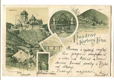 Karlštejn, Beroun, litografie